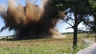 Detonacja bomby na poligonie w Orzyszu