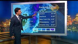 Forecast shows winter storm slamming Northeast