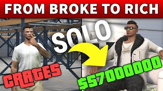 From BROKE To RICH MILLIONAIRE With CEO CRATES | Step By Step SPECIAL CARGO SOLO GUIDE In GTA Online