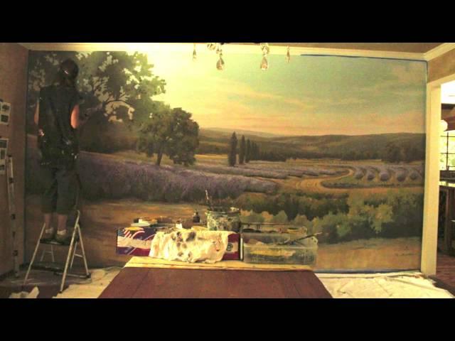 French Provincial Landscape Mural