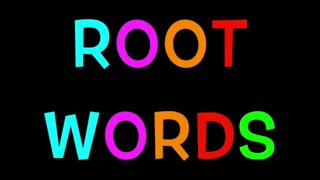 ROOT WORDS - Vocabulary for KIDS - Learn ENGLISH