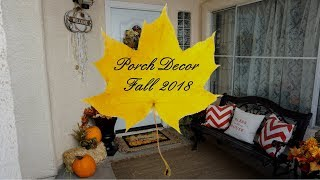 Fall Porch Decor // Decorate With Me 2018