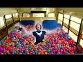 Download Youtube: 100,000 PLASTIC BALLS IN MY SCHOOL BUS! (driving)