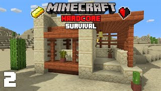 Minecraft: GOLD! & Starter House! - 1.16 Hardcore Survival Lets Play | 2
