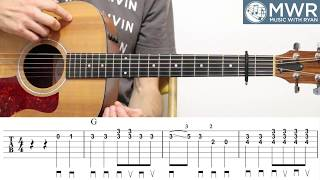 Learn to Play 'This Train is Bound for Glory' - Gospel Bluegrass Guitar Lesson