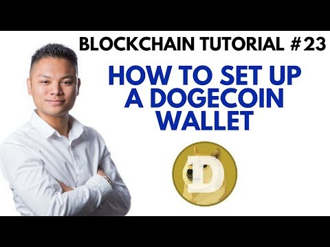 Blockchain Tutorial #23 - How To Setup A Dogecoin Wallet