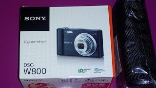 Unboxing & Overview   Sony Cybershot DSC W800 20.1mp digital camera review