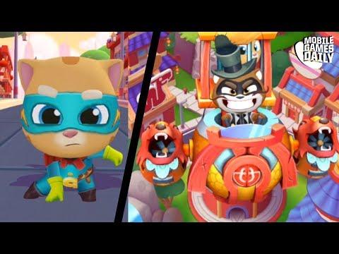 Talking Tom Hero Dash - Saving Ginger Gameplay | Talking Tom Heroes | My Talking Tom | Gold Run
