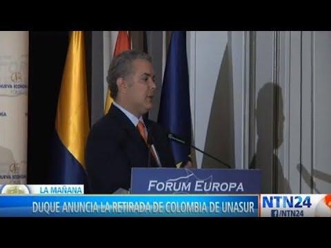 Iván Duque anunció retiro de Colombia de la Unasur