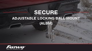 Fastway: Flash™ Adjustable Locking Ball Mounts