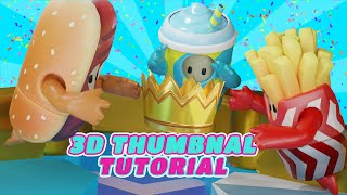 How To Make 3D Fall Guys Thumbnails (Full Tutorial)