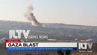 Video: Výbuch v Gaze způsobený zbraněmi uloženými k útoku na Izrael