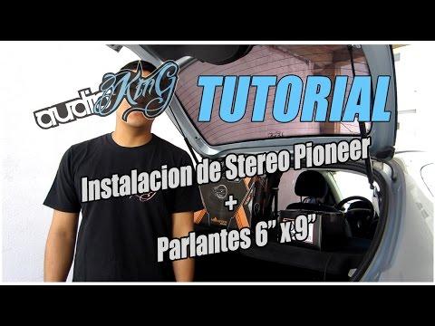 Instalacion de Stereo y Parlantes 6x9 en Peugeot 206 - Audioking