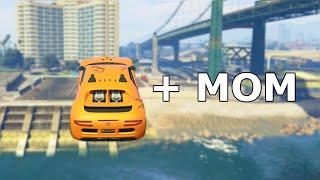Insane Car Stunt Race WITH MY MOM (GTA 5 Funny Moments)
