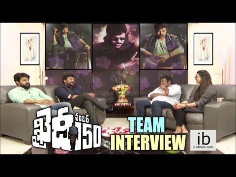 Niharika interviews Chiranjeevi, Ram Charan & VV Vinayak about Khaidi No. 150 - idlebrain.com