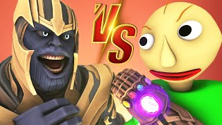 Baldi vs Thanos - The Movie (All Episodes Official Compilation Avengers: Endgame Prank 3D Animation)
