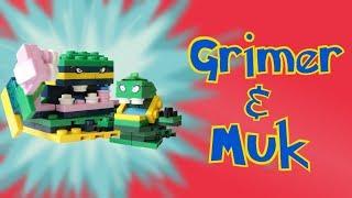 Lego Pokemon: Alolan Grimer and Muk Animation + Instructions
