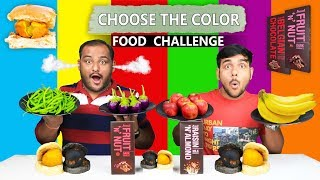 CHOOSE THE COLOR FOOD EATING CHALLENGE   Color Food Eating Competition   Food Challenge