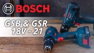BOSCH GSB 18V-21 & GSR 18V-21 Akku Bohr- & Schlagbohrschrauber - UNBOXING & TEST inkl. RABATTCODE