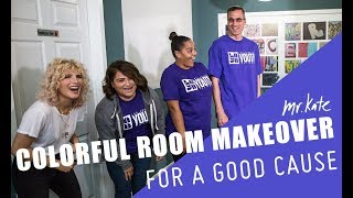 Colorful Room Makeover for a Good Cause | Office Goals on the Road | Mr. Kate