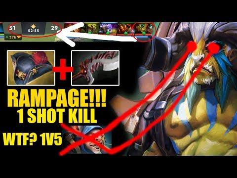 EPIC 1V5 Elder Titan Pirate Hat Crazy Comeback 1 Shot DELETE Meepo WTF Gameplay Dota 2 7.23