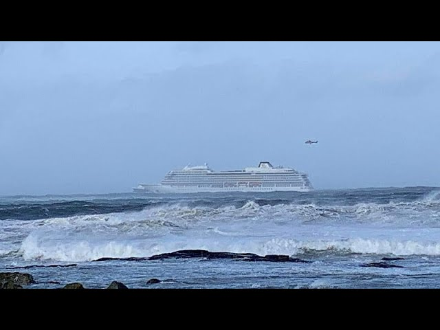 Cruise ship to 'evacuate its 1,300 passengers after sending mayday signal off the coast of Norway'.