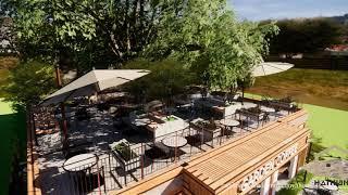 Tropical Garden Coffee Shop - 2019 - Visual By Enscape Sketchup