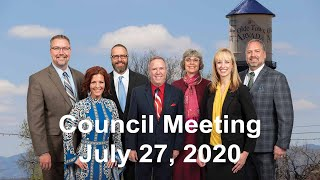 Preview image of City Council Meeting   July 27, 2020