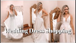 COME WEDDING DRESS SHOPPING WITH ME 👰🏼 (I found the one!!!) ✨