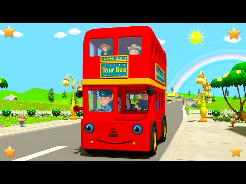 Wheels On The Bus | Kindergarten Nursery Rhymes & Songs for Kids
