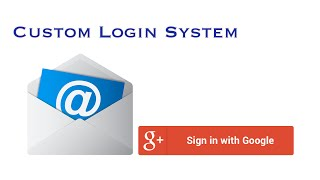 Web Login System (Email & Google)  - Quick n Easy