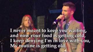 Maroon 5 -  Until You're Over Me Lyrics