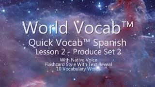 Quick Vocab™: Spanish Produce Set 2