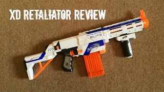 Nerf N-Strike Elite XD Retaliator Unboxing & Range Test