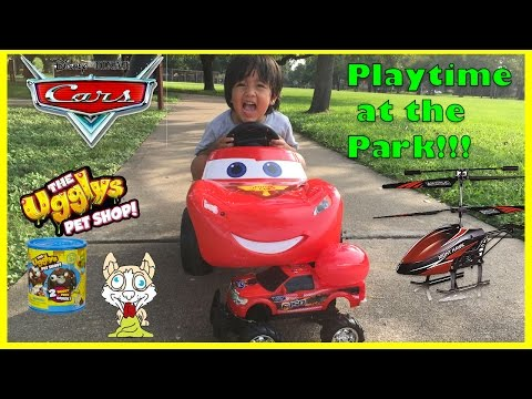 Disney Cars Lightning McQueen Power Wheels Playtime At The Park