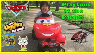 Disney Cars Lightning McQueen Power Wheels Playtime at the park