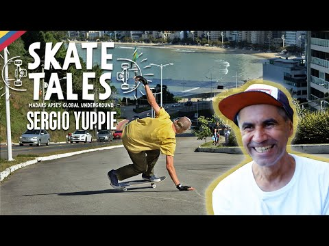 How To Bomb Hills With Brazil's Sergio Yuppie     SKATE TALES Ep 2