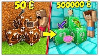 LUCKY BLOCK DA 50 EURO CONTRO LUCKY BLOCK DA 500000 EURO! - Minecraft ITA