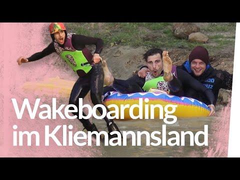 Wakeboard fahren im Teich - WINCH Test | Kliemannsland
