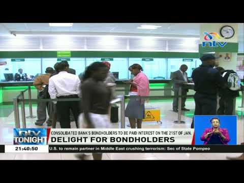 Consolidated Bank bondholders to be paid interest on 21st January