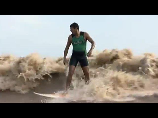 Surfing The World's Longest Wave! - Equator - BBC
