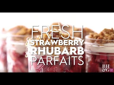 Fresh Strawberry-Rhubarb Parfaits | Eat This Now | Better Homes & Gardens