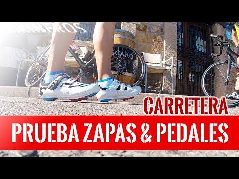 Prueba zapatillas y pedales de carretera