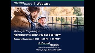 Aging parents: What you need to know