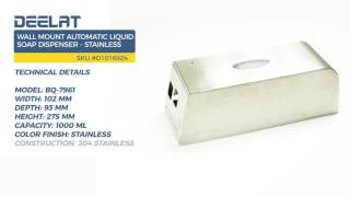 Wall Mount Automatic Liquid Soap Dispenser - Stainless