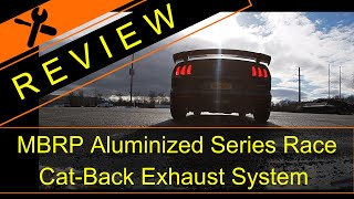 MBRP Aluminized Race Cat-back Exhaust Review - 2018-2020 Mustang GT