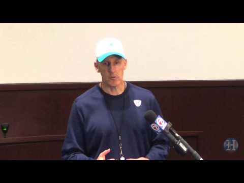 Dolphins coach Joe Philbin speaks after practice Aug. 27, 2015