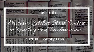 Stark Reading Contest 116th Virtual County Final