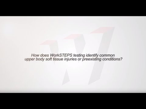 How does WorkSTEPS identify common upper body soft tissue injuries or preexisting conditions?