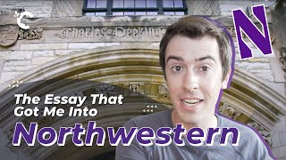 youtube video thumbnail - The Essay That Got Me Into Northwestern